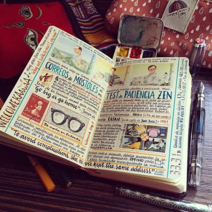 como hacer un cuaderno de viajes personalizado hecho a mano para sorprender a tu pareja, regalos originales para novios