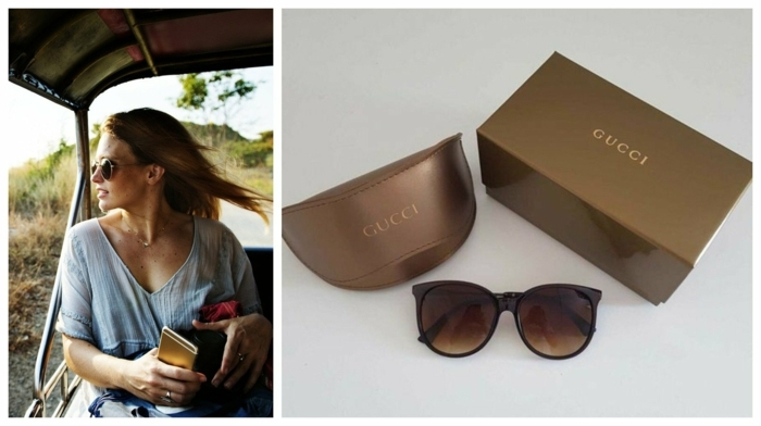 ideas de regalos dia de la madre, gafas del marca Gucchu, gafas elegantes para regalar a tu madre o a tu suegra