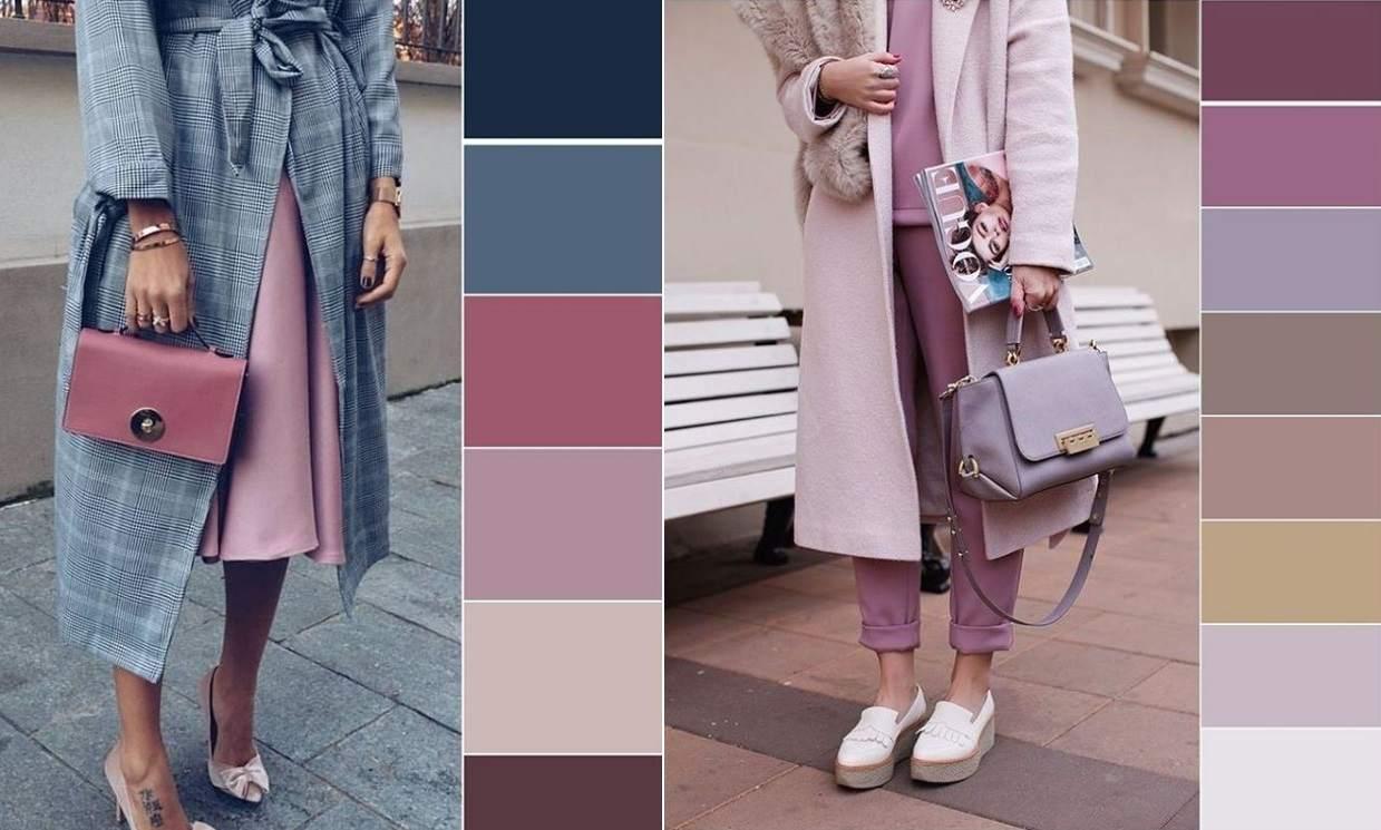 combinaciones de colores que enamoran con que colores combina el gris, rosado pálido y gris claro, atuendos bonitos