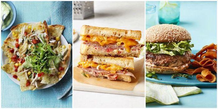 que hacer de cenar, tres propuestas de cenas con pan, bocadillos para cenar, ideas de recetas fáciles y rápidas