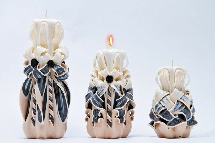 ideas de regalos para madres y abuelas, velas aromáticas decorativas con detalles en forma de flores, fotos de regalos