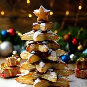 Cómo hacer un árbol de Navidad de hojaldre en versión salada y dulce
