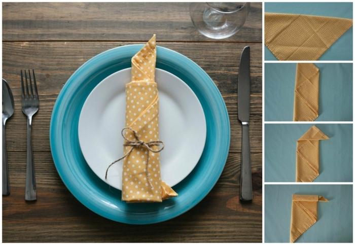 cómo doblar servilletas para navidad con tutoriales paso a paso, servilleta en forma de vela, ideas para servilletas dobladas