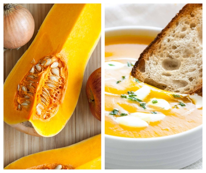 platos ricos y saludables para preparar en casa, ideas de platos veganos, como hacer crema de calabaza receta vegana
