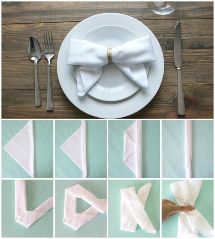 ideas elegantes y originales para doblar servilletas para navidad, cómo doblar servilletas de tela para sorprender a tus invitados