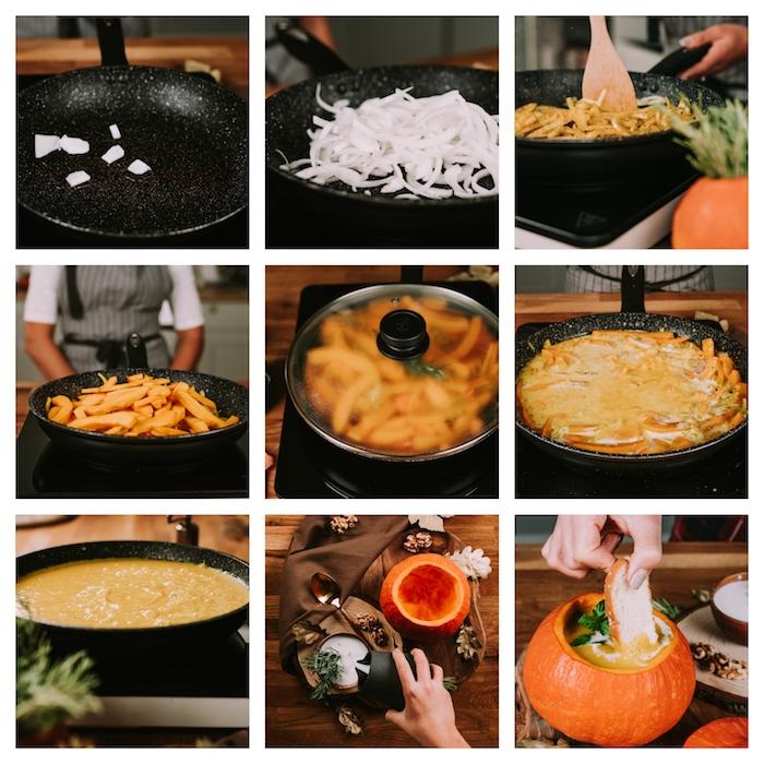 como preparar una crema de calabaza paso a paso, ideas para hacer una sopa de calabaza, receta de sopa saludable