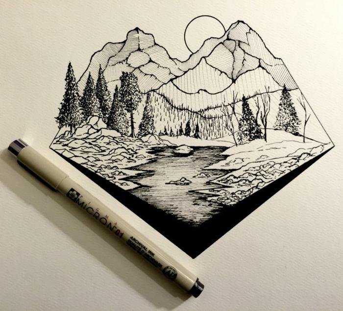 como hacer bonitos dibujos en blanco y negro, dibujos sencillos para redibujar, dibujos en blanco y negro inspirado, dibujos en blanco y negro con lapiz, res