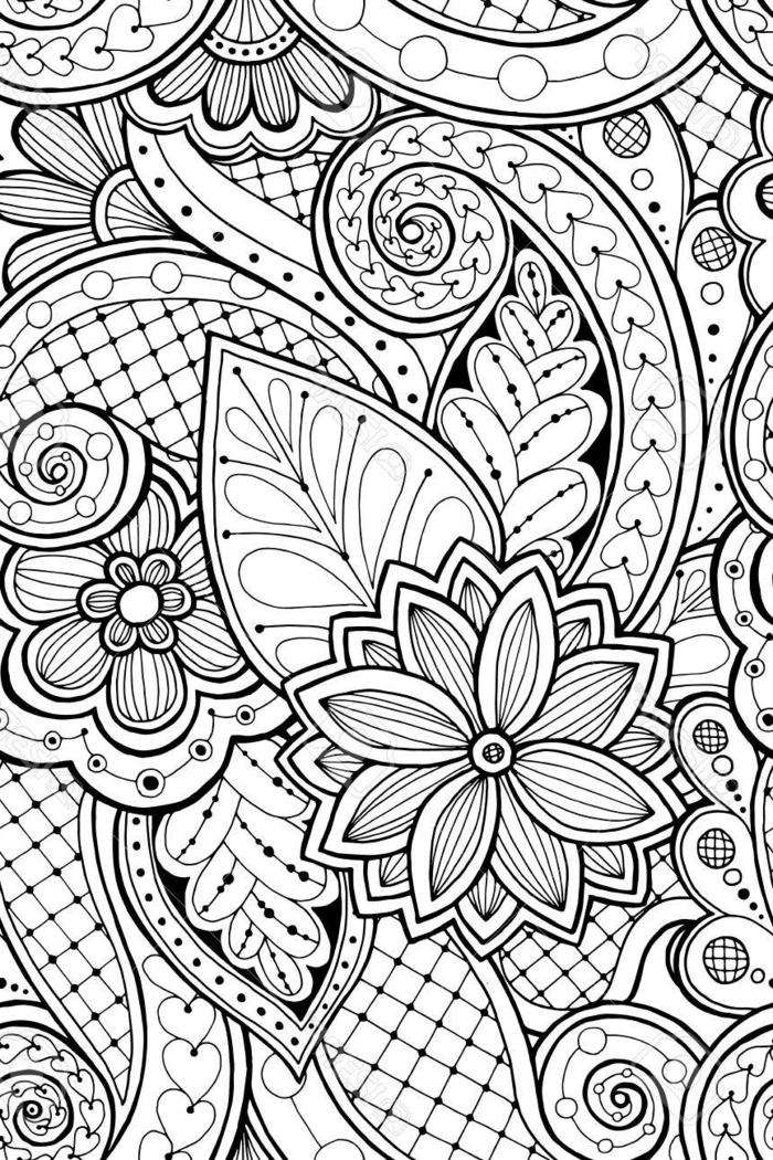 preciosos motivos florales dibujados en blanco y negro, bonitos dibujos para calcar o redibujar, ideas de dibujos originales