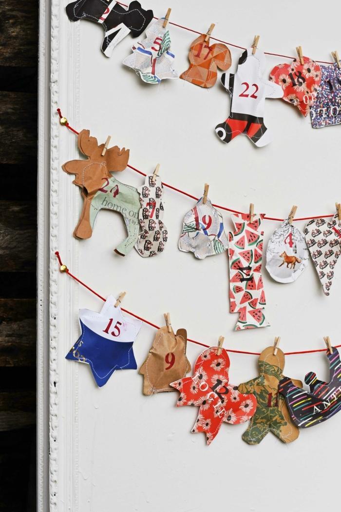 adornos de papel 3D para colgar en la pared, fotos de manualidades navideñas originales, tutoriales de manualidades