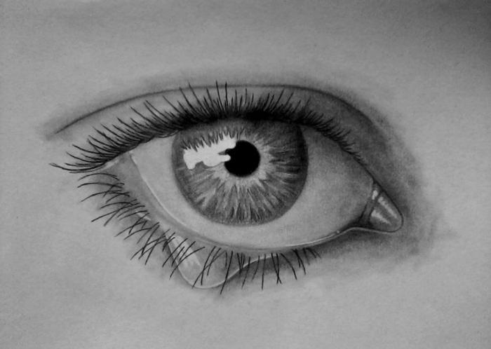 aprender a dibujar a lápiz con sombras, dibujos realistas, ideas de dibujos de personas bonitos, dibujo a lapiz de ojo