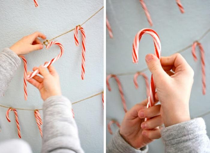 manualidades para decorar el hogar en navidad, ideas decorativas originales y fáciles de realizar, fotos de guirnaldas