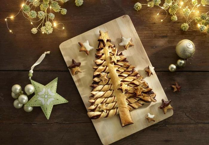 postres para nochevieja, árbol navideño casero con chocolate, las mejores recetas de arbol de navidad buitoni en fotos
