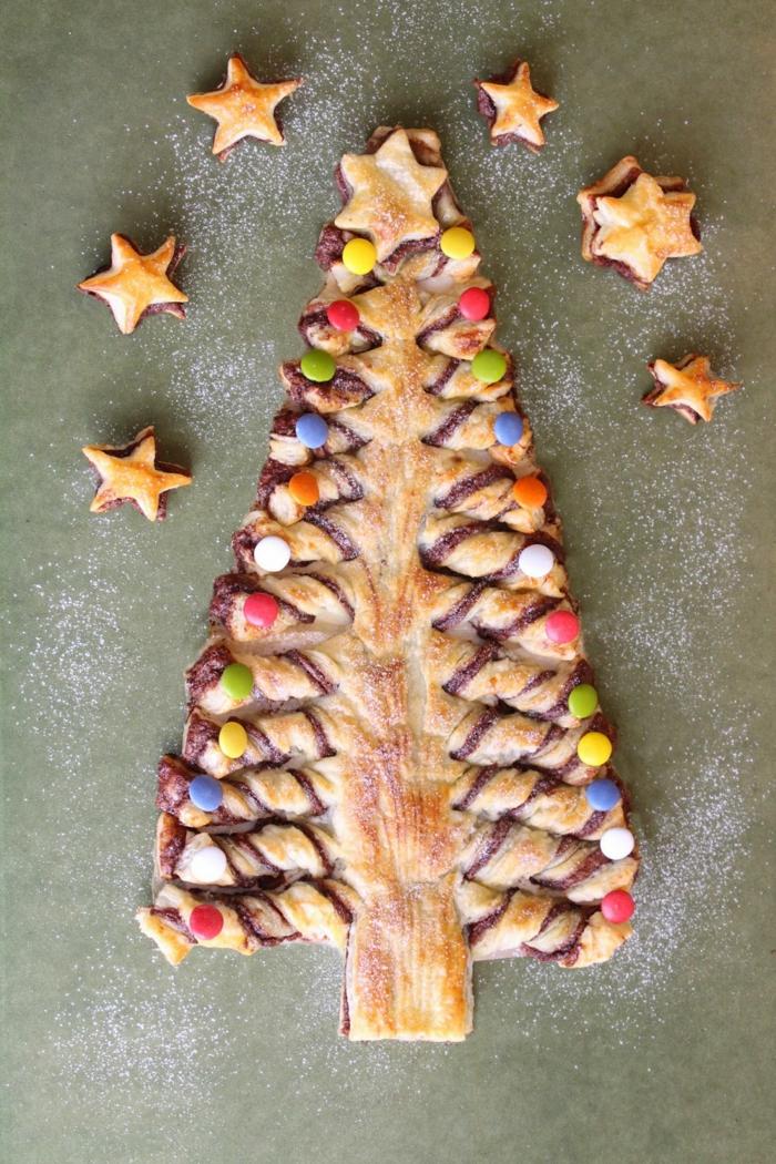 arbol de navidad buitoni paso a paso, árbol navideño con caramelos coloridos y chocolate, ideas de platos para regalar