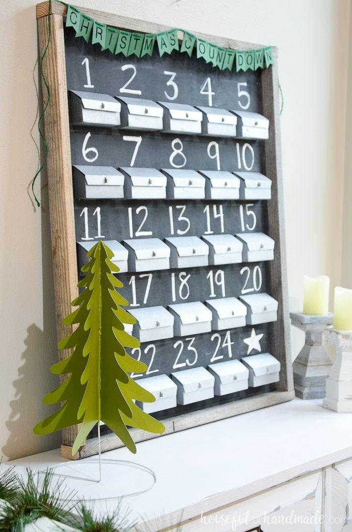 ideas de calendarios DIY para contar los días hacia navidad, tradiciones navideñas y manualidades para decorar la casa