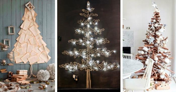 tres propuestas de decoración navideña inusual según las últimas tendencias de 2019, arbol de navidad de madera