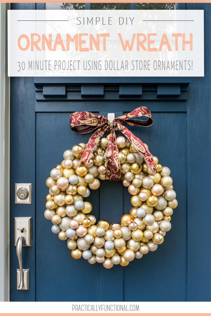 decoracion navideña 2019, corona DIY para hacer en media hora, ideas de decoración casera original para un presupuesto pequeño