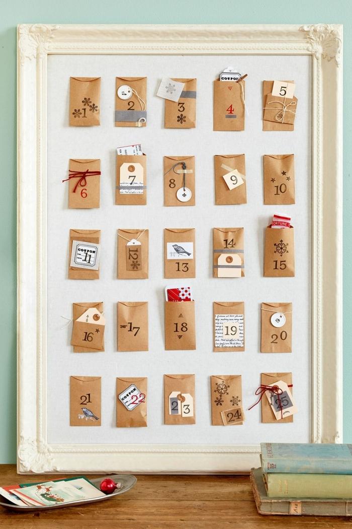 fantásticas ideas de manualidades fáciles para niños y adultos, calendario de adviento casero para colgar a la pared