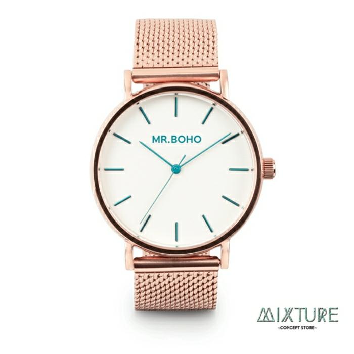 reloj bonito en color oro rosa, regalos navidad mujer, ideas de regalos para tu gente querida, fotos con ideas de regalos navidad