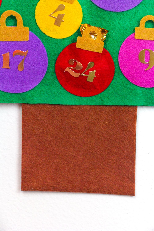manualidade para pequeños y adultos, árbol navideño sin coser, ideas de manualidades fáciles con tutoriales en fotos