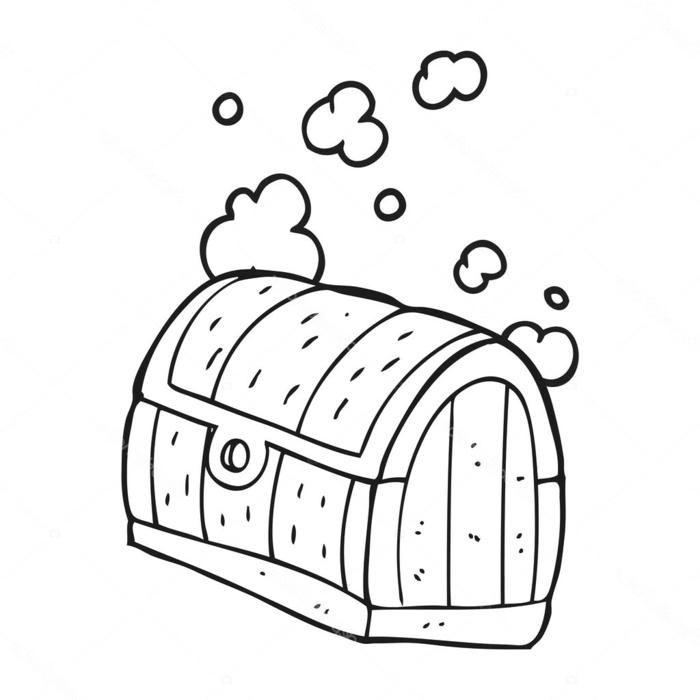 como dibujar un cofre, ideas super sencillas de dibujos, cosas fáciles para dibujar para principiantes y avanzados