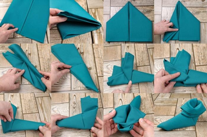 fantásticas ideas de tutoriales para hacer servilletas decorativas, como hacer un zapato de servilleta de tela paso a paso