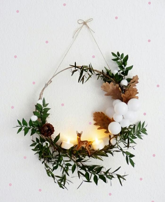 como hacer una corona de navidad para decorar la casa, como hacer guirnaldas de navidad bonitas paso a paso