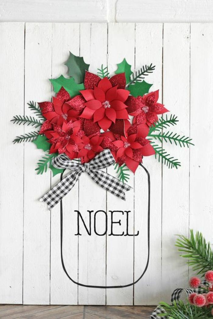 decoracion navideña 2019 tendencias e ideas decorativas, bonita decoración en blanco, verde y rojo, fotos de manualidades Navidad