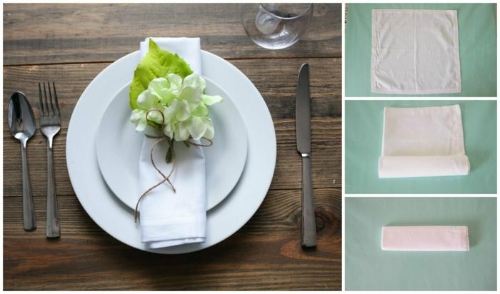 pequeños detalles para dar un toque festivo a tu mesa, originales ideas sobre doblar servilletas navidad paso a paso, fotos de servilletas dobladas