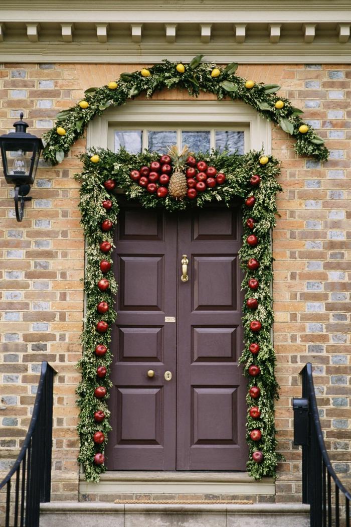 decoracion navideña casera para decorar tu puerta, más de 90 ideas decorativas para tu porche, ideas para decorar el hogar