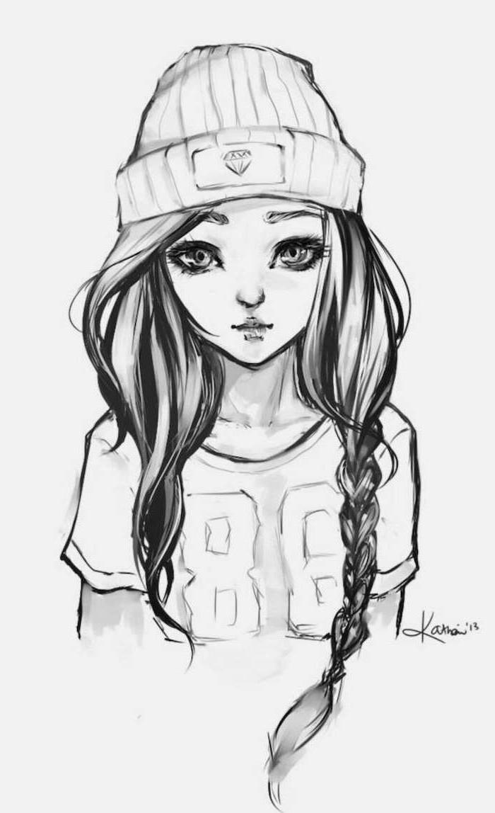 dibujos kawaiis hipperrealistas de chicas lindas, ideas de dibujos que puedes redibujar, fotos de dibujos simbolicos