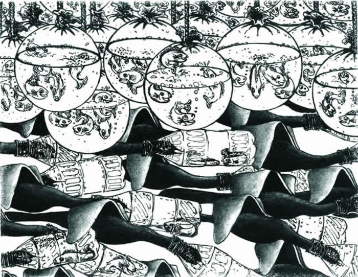 imagenes en blanco y negro bonitas para inspirarte y empezar a dibujar, ideas de dibujos originales que fomentan la creatividad