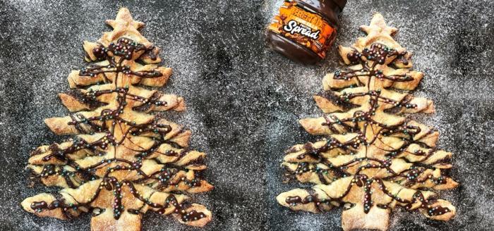 aperitivos navidad y postres ricos con hojaldre y chocolate nutella, las mejores recetas de postres caseros para Navidad