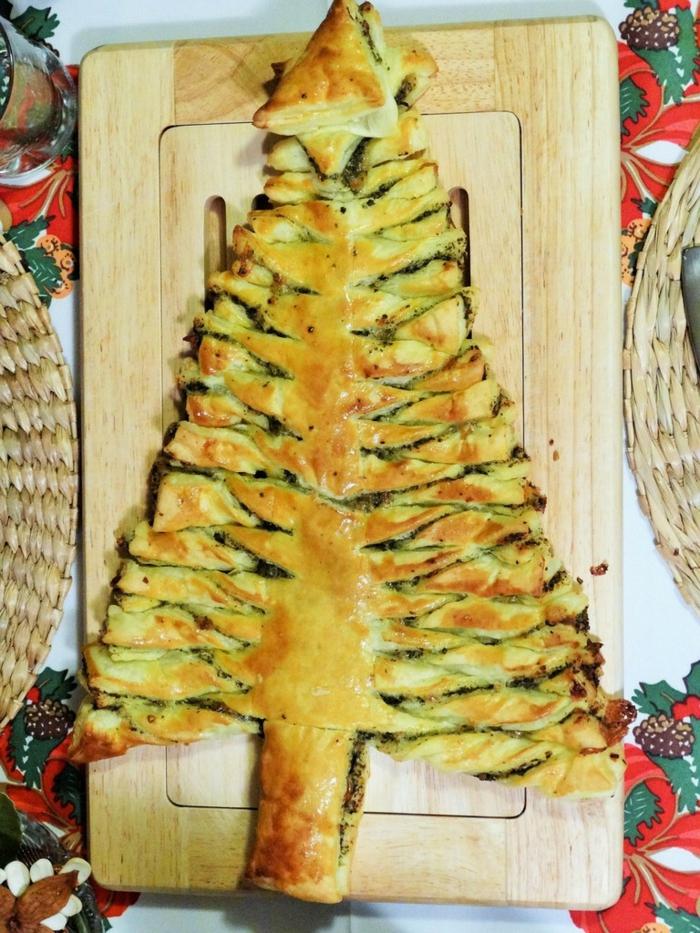 como hacer postres faciles y rapidos de hacer en casa paso a paso, árbol navideño con espinacas y quesos, ideas de recetas caseras