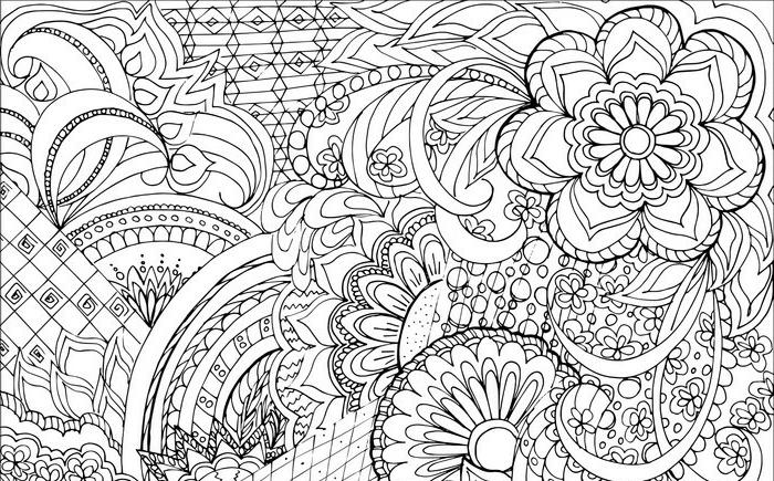 imagenes en blanco y negro con motivos florales, ideas para dibujar bonitos diseños, patrones para colorear, fotos de dibujos