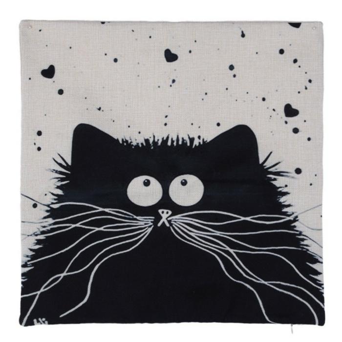 gato en blanco y negro, divertidas ideas de dibujos en negro para los pequeños y adultos, fotos de dibujos originales