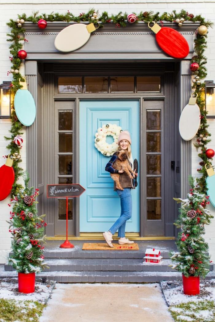 las mejores propuestas de puertas decoradas para Navidad 2019, más de 97 fotos de puertas con decoración casera