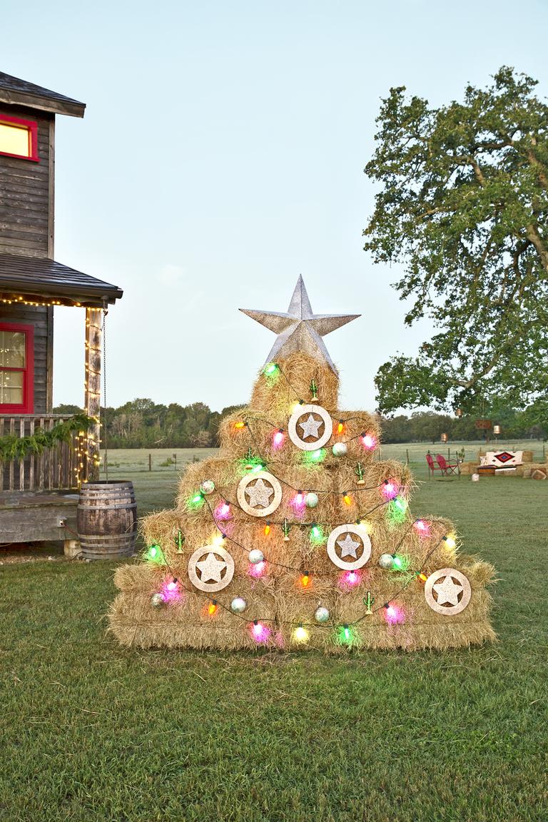 fotos de arboles de navidad inusuales y originales, alternativas ecológicas al árbol navideño clásico, fotos de árboles navideños