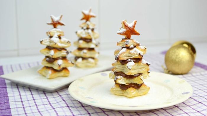alucinantes ideas de dulces de navidad para un postre personalizado y especial, arbolitos de navidad con chocolate nutella