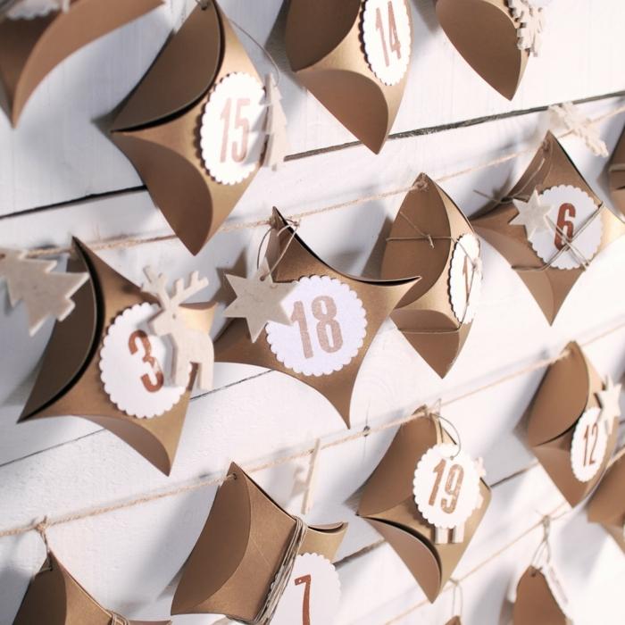 manualidades para navidad originales, y fáciles de hacer, pequeño calendario de adviento con cajas de cartón y numeros