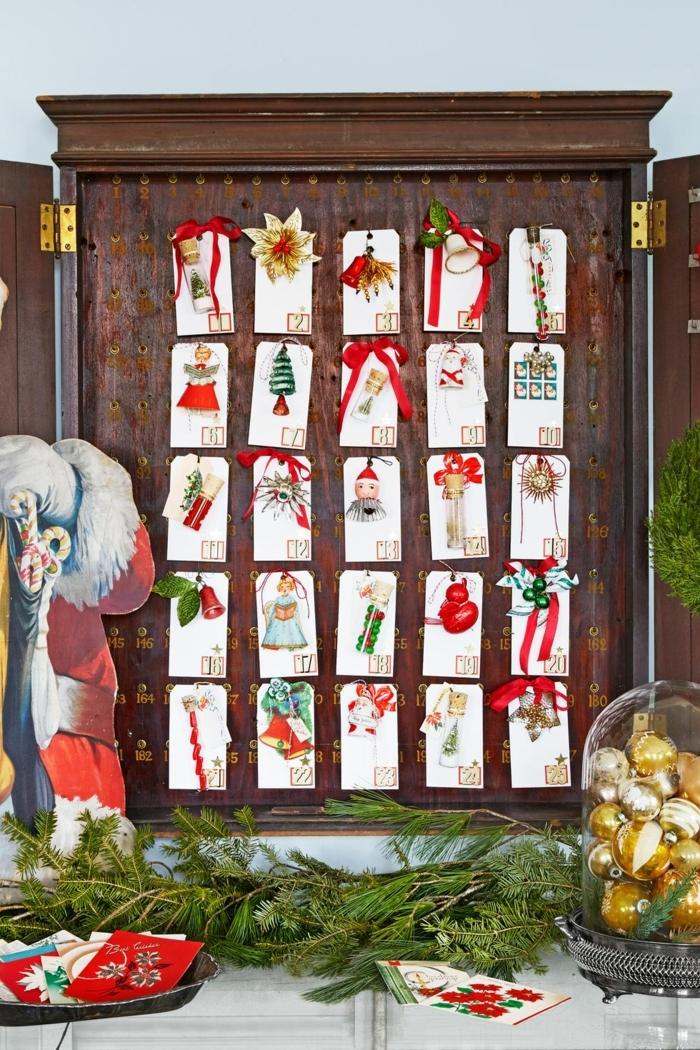 calendario adviento belleza, preciosas ideas de casa decoradas en estilo rústico para Navidad, manualidades navideñas