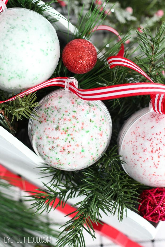 bombas de baño personalizadas para navidad, como hacer bombas de baño caseras paso a paso, fotos de manualidades