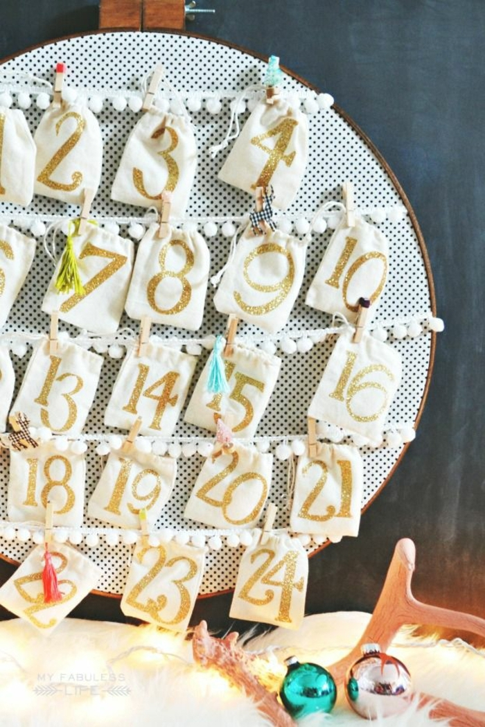 los mejores ejemplos de calendarios de adviento caseros paso a paso, fotos de manualidades y decoración para Navidad
