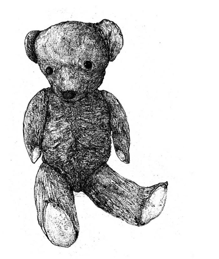 simpático dibujo el oso Pooh, ideas de motivos para niños para redibujar, como dibujar animales paso a paso, dibujos orginales