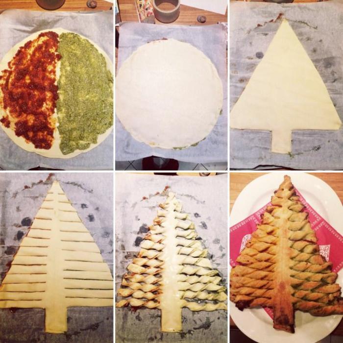 como hacer un arbolito navideño de hojaldre con pasta de tomates y pesto paso a paso entrants rápidos y faciles para hacer en casa