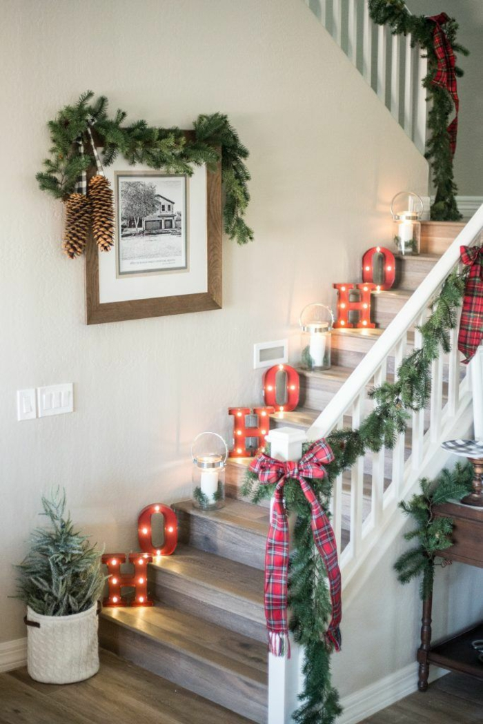 fotos de casas decoradas para navidad para inspirarte este año, decoración casera original y fácil de hacer en imagenes