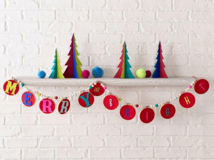 guirnaldas decorativas hechas a mano, las mejores propuestas de decoración casera para Navidad en bonitas imágenes