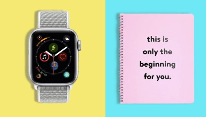 dos ideas de regalos para hombres en navidad, reloj inteligente, cuaderno para el nuevo año para hacer tu agenda, fotos DIY