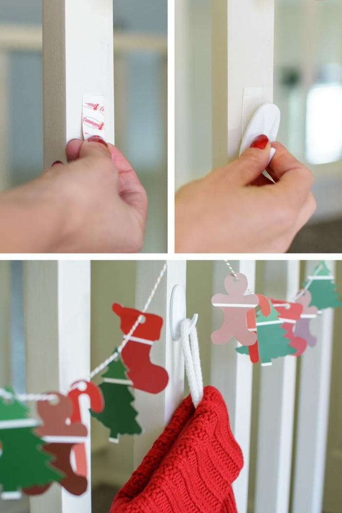 ideas sobre cómo decorar la casa este diciembre con detalles decorativos hechos a mano, como hacer una corona de Navidad