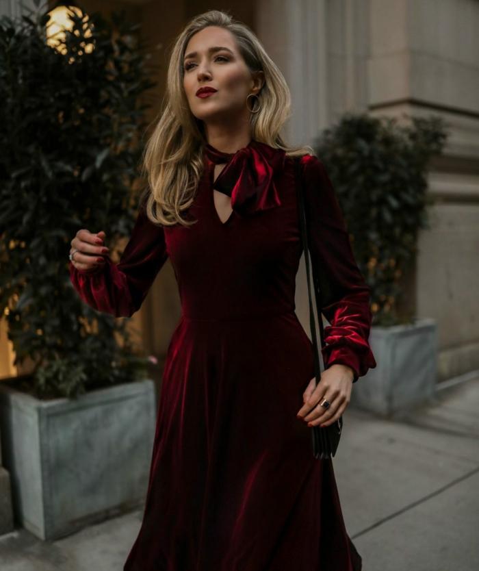 vestidos nochevieja elegantes y modernos para un look sofisticado e impecable, ideas de prendas para nochevieja y navidad