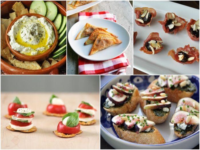 cinco propuestas de comidas para una fiesta, aperitivos para cumpleaños, pequeños canapés y pinchos para sorprender a tus amigos